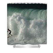 Nowhere To Hide Nowhere To Swim Shower Curtain