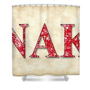 Nu Alpha Kappa - Parchment Shower Curtain