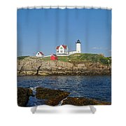 Nubble In The Day 20x30 Shower Curtain