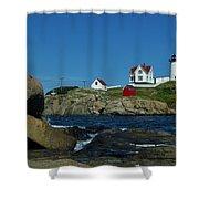 Nubble Light House York Beach Maine Shower Curtain