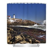 Nubble Light  Shower Curtain