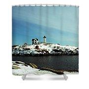 Nubble Lighthouse 3 Shower Curtain