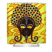 Nubian Modern Afro Mask Shower Curtain