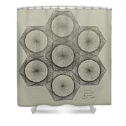 Nuclear Fusion Shower Curtain by Jason Padgett