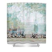Nuclear Plant / Winter Season Shower Curtain