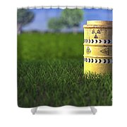 Nuclear Waste Shower Curtain