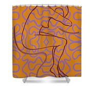 Nude 13 Shower Curtain
