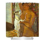 Nude Against The Light Shower Curtain by Granger