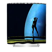 Nude Amongst The Stars... Shower Curtain