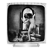 Nude And Mirror, C1850 Shower Curtain