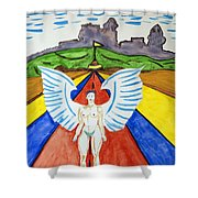 Nude Angel Road Shower Curtain