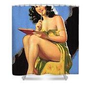 Nude Brunette II Shower Curtain