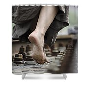 Nude Feet Shower Curtain