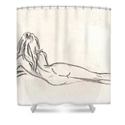 Nude Figure Drawing Shower Curtain