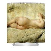 Nude Shower Curtain by Giacomo Grosso