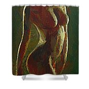 Nude In The Green Shower Curtain