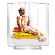 Nude Male Model Study Vi Shower Curtain