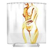 Nude Model Gesture II Shower Curtain