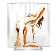 Nude Model Gesture IIi Shower Curtain