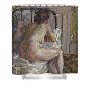 Nude On A Bed, C.1914 Shower Curtain