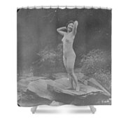 Nude Outdoors, 19th Ct Shower Curtain