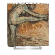 Nude Study For A Dancer At The Bar Shower Curtain