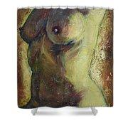 Nude Female Torso Shower Curtain