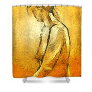 Nude Viii Shower Curtain