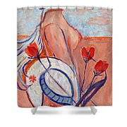 Nude With A White Hat Shower Curtain