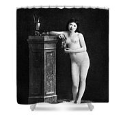Nude With Grapes, C1850 Shower Curtain