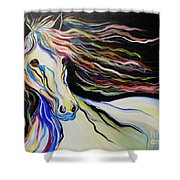 Nuella Horse With The White Shoulder Shower Curtain