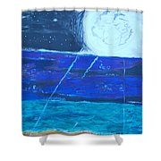 Nuestra Luna Shower Curtain