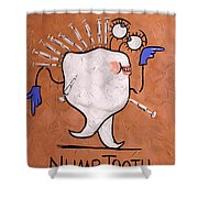 Numb Tooth Dental Art By Anthony Falbo Shower Curtain