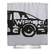Number 3 Car Wrangler Shower Curtain