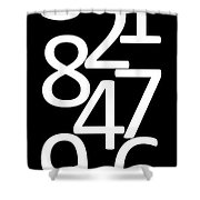 Numbers In Black And White Shower Curtain