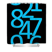Numbers In Blue And Black Shower Curtain