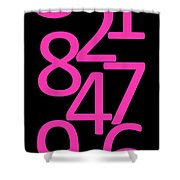 Numbers In Pink And Black Shower Curtain