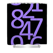 Numbers In Purple And Black Shower Curtain