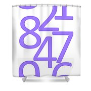 Numbers In Purple Shower Curtain