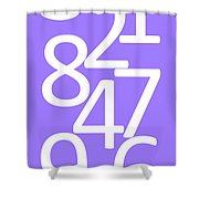 Numbers In White And Purple Shower Curtain