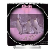 Nursery And Childrens Series Penguins Shower Curtain