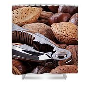 Nutcracker And Whole Nuts Shower Curtain