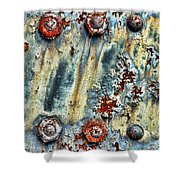 Nuts And Rivets  Shower Curtain