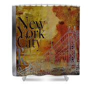 Ny City Collage - 6 Shower Curtain