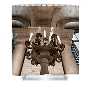 Ny Public Library Candelabra Shower Curtain