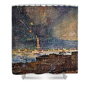 Ny: Statue Of Liberty, 1886 Shower Curtain