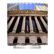 Ny Stock Exchange Shower Curtain