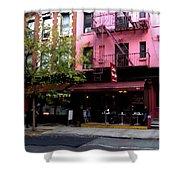 Ny Streets - Cafe Borgia II Soho Shower Curtain