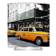 Ny Streets - Yellow Cabs 1 Shower Curtain