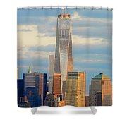 Ny Sundown One World Trade  Shower Curtain